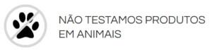 Não testamos animais